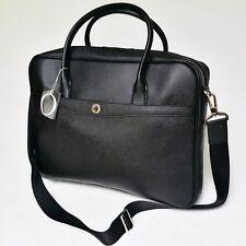 Oroton Melanie Briefcase Tote Bag Saffiano Leather Black Tags Dustbag Rrp695