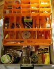 Vintage Rebel Tackle Box And Contents. See pictures and description for lot!