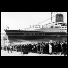 Photo B.002681 SS NORMANDIE CGT FRENCH LINE PAQUEBOT OCEAN LINER