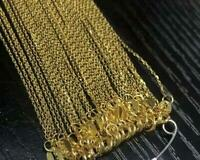 Wholesale genuine 18K SOLID GOLD NECKLACE Cross chain Clavicule chain AU750