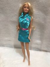 Barbie Doll Toy Story 2 I Can Be Tour Guide Barbie Doll Blue Dress Pink Earrings