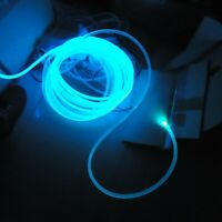 Optic Fiber Cable-1.5/2/3/4mm Diameter PMMA Side Glow For Car LED Lights Bright