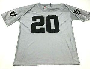 NFL Derek McFadden Oakland Raiders Football Jersey Size Extra Large Gray Shirt