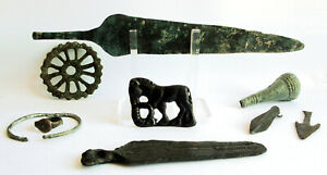A collection of Celtic Bronze-Age artefacts