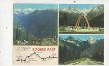 Rogers Pass Canadian Rockies Canada 1978 Postcard 609a