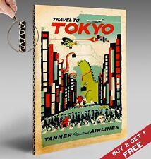 Visita Tokyo ARTE A4 POSTER * Giappone Pubblicità turismo viaggi vintage PICTURE