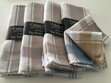 BULK LOT 'CALAIS AVENUE' 12 COTTON TEA TOWELS  - NEW