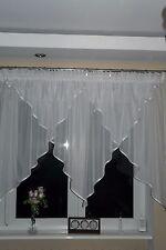 Moderne Fertiggardine aus Voile Gardine AG15 Weiss Fenstergardine Kräuselband