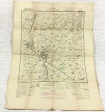 1940 Antique Map of India Indian Punjab Ambala Patiala State British Empire