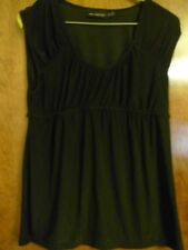 Womens The Limited Sleeveless Stretch Black High Bust Top