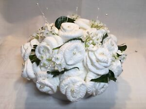 Artificial Flower Wedding Table Centrepiece Decoration Paper Flowers White
