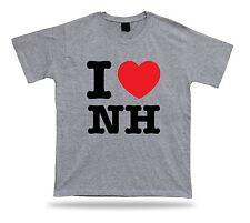 I LOVE NH New Hampshire t-shirt heart Granite Live Free Concord Manchester cloth