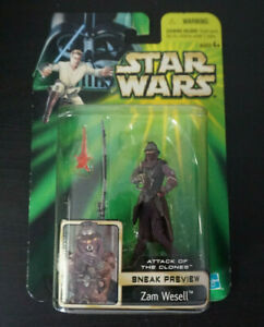 """Zam Wesell / Star Wars / Power of the Jedi / 3.75"""" Action Figure / Hasrbro 2001"""