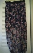 NWT Black Flower Print Assymetrical WET SEAL Skirt-NROR*FREE SHIP