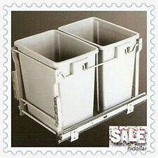 DOOR MOUNTABLE 44L KITCHEN CONCEALED PULLOUT PULL OUT BIN DUAL BIN LID WORM FARM