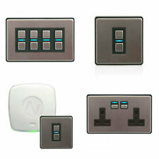 Lightwave LightwaveRF Gen2 Smart Dimmer Switch Power Socket Stainless Steel