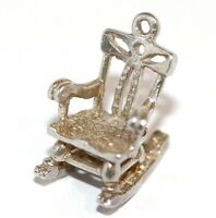 Vintage Sterling Silver CHIM Bracelet Charm Rocking Chair Larger