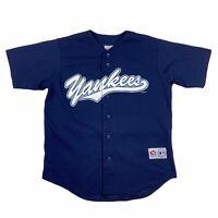 True Fan New York Yankees Derek Jeter Mens 2001 MLB Jersey Navy Medium M