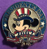 DISNEY STORE 2002 PRESIDENTS DAY 12 MONTHS OF MAGIC MICKEY IN UNCLE SAMS HAT PIN