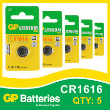 GP Lithium Button Battery CR1616 (DL1616) card of 5 [WATCH & CALCULATOR + OTHER]