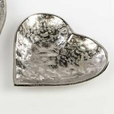 Deko Herzschale, Teller ALU ORGANIC D. 17cm silber Metall Formano