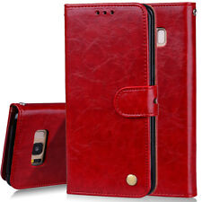 Retro PU Leather Wallet Card Slot Holder Cases Men Business Cover For Cell Phone