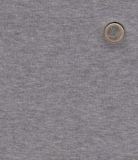 1 m Baumwoll Feinripp Jersey in mittelgrau melange, grau, Schlauch