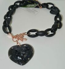 Bracciale Kulto Jewels Nero Con Cuore Bracelet