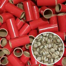 "25 Red Fireworks Kraft Paper Tubes 1"" x 2-1/2"" x 1/8"" Wall 37MM + 50 Paper Caps"