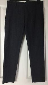 COS mens Black Grey Wool Cashmere Slim Skinny Trousers W33 L30 Smart Casual