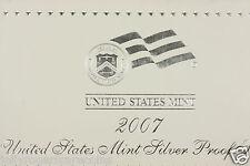 U.S Mint, DCAM  Silver Proof Set. 2007  Birth Year