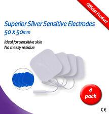 Piel Sensible Electrodos Tens 50x50mm -4 Plata Superior Con Gel Azul