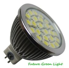 MR16 24 SMD LED 12V 350LM 4.3W WARM WHITE BULB WITH GLASS COVER ~50W