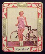 Lyn Barri  1934 Garbaty Film Star Series 2 Embossed Cigarette Card #241