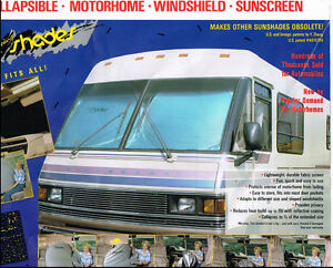 Motor Home, RV, Motor Coach, Class A window shade- Extra Jumbo RV Sun Shade 1-PC