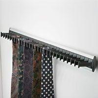 1 HAFELE WARDROBE DOOR TIE RACK SILVER & BLACK HOLDS 28 TIES