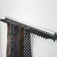 1 Hafele Guardaroba Porta tie rack argento e nero contiene 28 legami