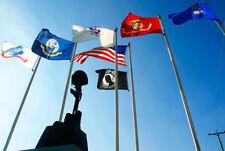 3X5 Military Armed Forces, Pow Mia, USA DOUBLE SIDED Nylon FLAG Set Flags 3x5ft