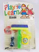 Learn to play toy take apart shaver kids vintage 1985 ja Ru plastic set New NOS