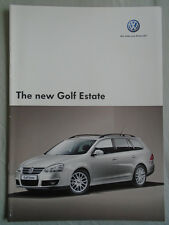 Vw Golf Estate range brochure Jun 2007
