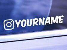Custom instagram Vinyl Car Decal Window ig Sticker