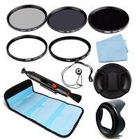 52/55/58/62/67/72/77/82mm ND248+Slim Circular Polarizer CPL+UV Filter For Camera