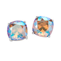 Origami Owl Swarvorski  Light Colorado Topaz Shimmer Clara Stud Earrings
