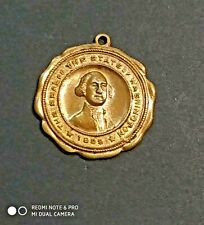 Antique rare Bronze medal-Pendant  - Seal of the State of Washington - 1889