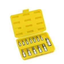 "SAE Hex Bit Socket Set | 13pc Standard Allen Key Wrench 1/4"" 3/8"" 1/2"" Drive"