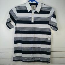 NWT Vans Chima Ferguson Mens Polo Sz Medium White Cotton Skate Shirt - P3-6