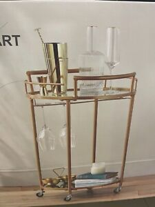 Bar cart Gold Drinks Trolley  Deco Vintage Home Primark