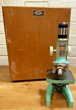 New listing *Vintage Tasco Deluxe High Quality Microscope w/ Original Wood Case + Handle