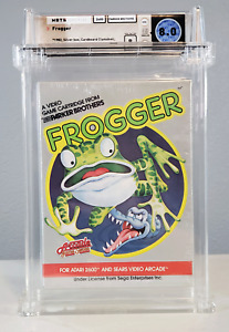 Frogger - Silver Box / Red Stripe - Graded Wata 8.0 Sealed Atari 2600 1982 USA