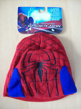 Hat Elope Spider Man Beanie Hat Red with Blue & Black Detail One Size New + Tags
